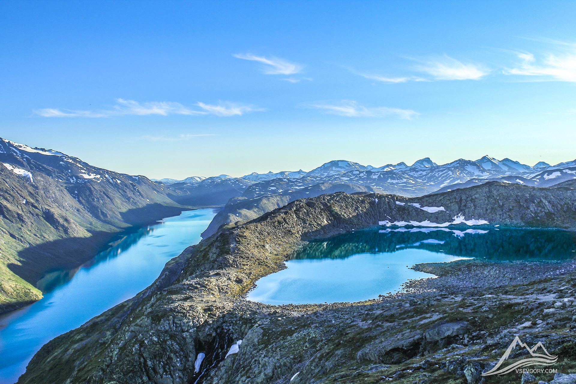 Norway Gjende Vettisfossen